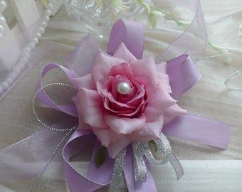 Handmade Wedding Wrist Flower Corsage For Bride Artificial Silk Rose Festive & Party Supplies Prom Corsage Wedding Keepsakes Flower
