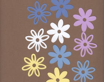 """120 - 2""""  Flower Die Cuts for Paper Crafts Pansy Colors Set # 1554"""