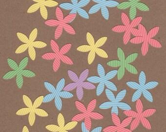 "35 - 1 1/2"" Pastel Flower Die Cuts for Paper Crafts Set 3"