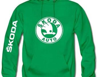 Skoda sweatshirt hooded hoodie + color sizes