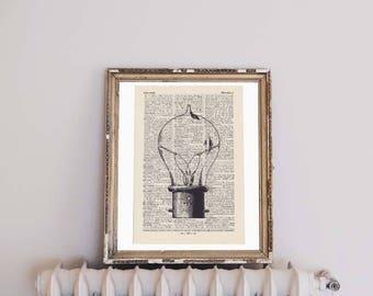 Printing enlightenment - antique book page - portrait