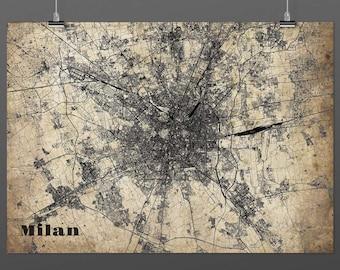 Milan din a4/DIN A3-Print-Vintagestyle