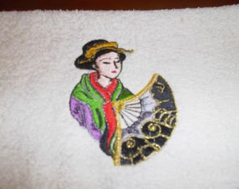 THEME EMBROIDERED GUEST TOWEL CHINA 30 X 50