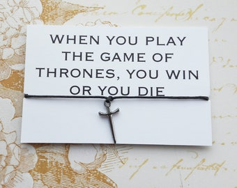 Game of Thrones, Game of Thrones Jewelry, Game of Thrones Wish Bracelet, Game of Thrones Gift, Game of Thrones Fan, Gift for Men
