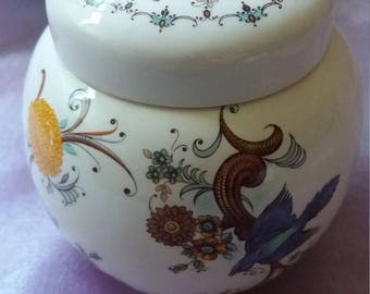 Mid century Sadler vase, jar with lid, vintage, retro