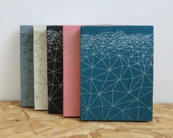 Vista Geometric Handmade Notebooks in A6 and A5 (in 5 colours)