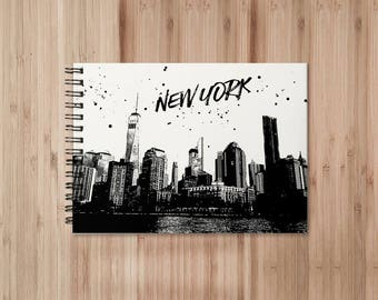 New York Notebook/Sketchbook Wire Bound - Blank pages