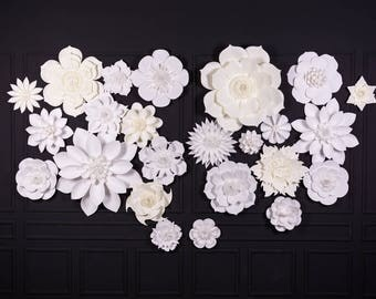 Extra Large Paper Flowers Backdrop