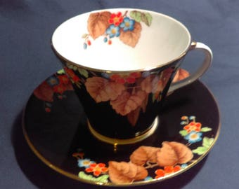 SALE 20% OFF!! Vintage Hand Painted 'Aynsley' Bone China Gold Teacup & Saucer Set, Made in England
