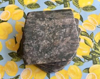 Natural Stone Coasters - Set of 4