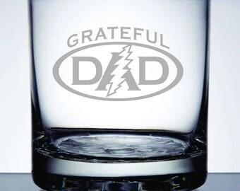 Grateful Dad - Etched 10.25 oz Rocks Glass