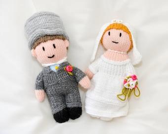 Handmade Knitted Bride & Groom