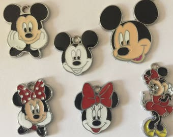 Mickey and Minnie Mouse Charms