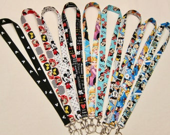 Lanyards Disney Inspired (Your Choice) 9 Different Ones.  Post 1 of 2