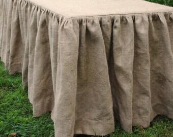 Great Burlap Tablecloth