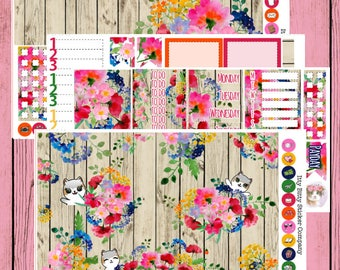 Spring Bouquet Weekly Planner Kit - Mauly - ittybittykitty