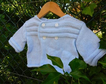 Life jacket baby Cardigan size 6 months light blue