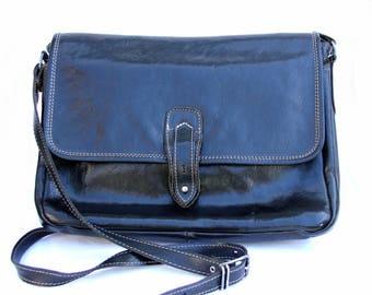 Vintage Mens Leather Bag Mens Bag Men handbag Leather Crossbody Bag Mens crossbody handbag Mens Shoulder Bag Mens Messenger Bag