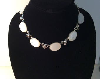 Coro White Necklace