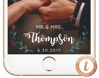 INSTANT DOWNLOAD Snapchat Filter Wedding, Snapchat Geofilter, Wedding Geofilter, Engagement Geofilter, Wedding Filter, Templett, WD01, PDF02
