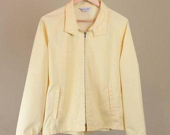 Best Summer Sale Pastel Yellow Golf Harrington Jacket