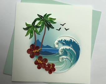 Tropical Quilling Greeting Card