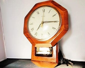 Vintage Small Electric Regulator Clock by United Clock Co.