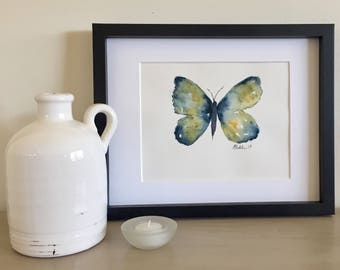 Multi-colored butterfly watercolor