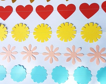 Flower Garland bunting for party, bridal shower, wedding, children's party.