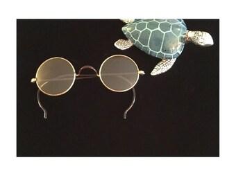 Windsor Style Eyeglasses, Small Round Antique Glasses, Vintage Round Glasses, Shur-On, Lennon Eyeglasses, Harry Potter Eyeglasses, 1920's
