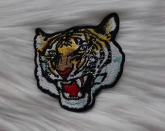 Large Tiger Iron-on Embroidered Patch!