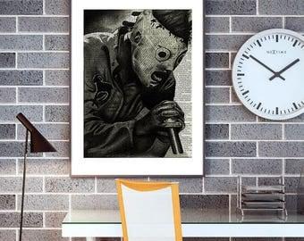 Corey Taylor // Slipknot // slipknot poster // band poster // metal poster // heavy metal poster // mixed media art // art prints //