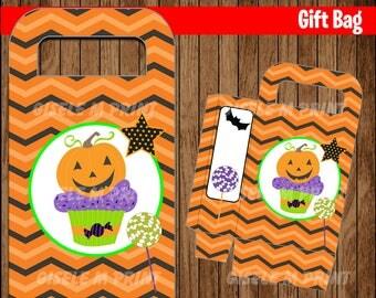 Kids Halloween Treat Bags, Printable Halloween Party Bag Toppers, Kids Halloween Gift Bag Toppers, Halloween Party Favor Bag Labels