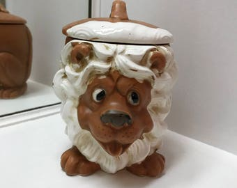 Vintage Ceramic Lion Container - Japan