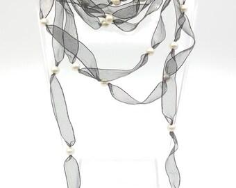 Scarf Cotton Pearls Miyuki
