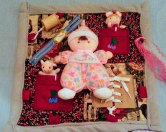 PINK PLUSH DOLL Fidget Blanket