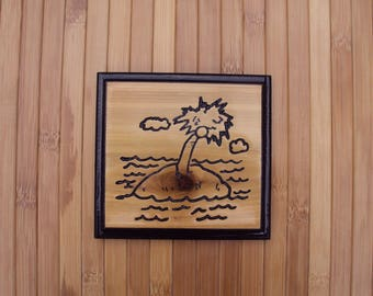 Small Island, Woodcraft, Wall Hanging, Home Decor, Wooden Gift