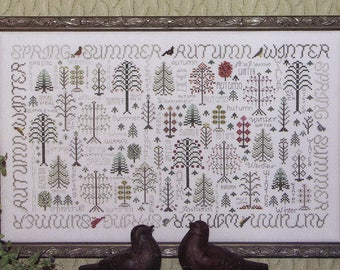 Seasons of the Trees by Rosewood Manor Counted Cross Stitch Pattern/Chart