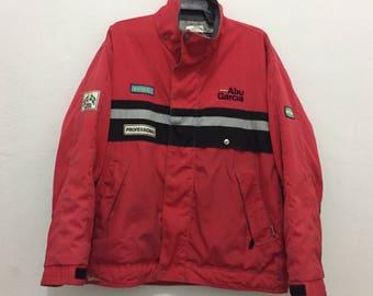 rare!!vintage 90s abu garcia jacket size L