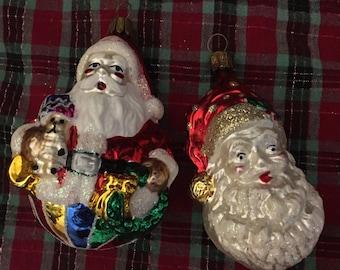 Antique German blown glass ornaments