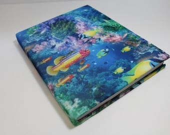 Under The Sea Book Sock Book Cover Protector Stretchable Agenda Organizer