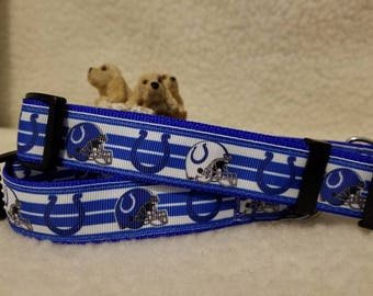 Colts Football Handmade Dog Collar 1 Inch Wide