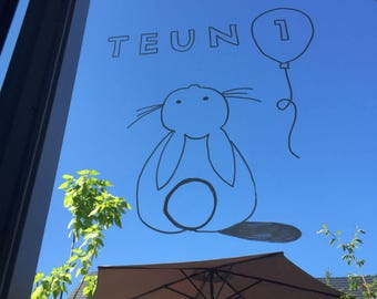 Windowdrawing Bunny / Birthday