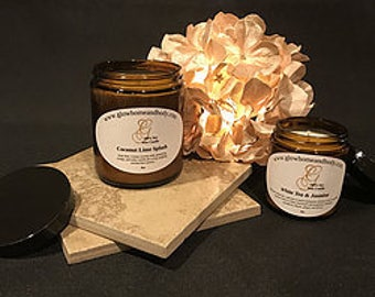 100% Soy Wax Candles 8oz