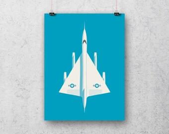 B-58 Hustler Supersonic Jet Bomber Poster Art Print