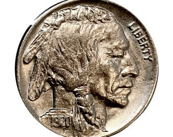 1920 P Buffalo Nickel - Choice BU / MS / UNC