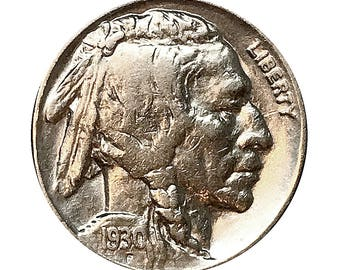 1930 P Buffalo Nickel - AU / Almost Uncirculated