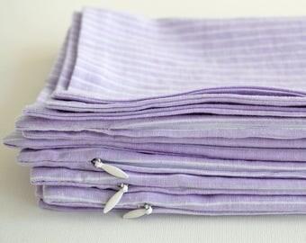 Wholesale Light Purple linen pillow cover, Beautiful accent pillow cover, Lila pillow, Linen decorative pillow, Linen throw pillow, Linen