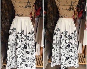 Hand Pleated Midi Skirt