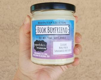 LARGE Book Boyfriend Net Wt. 9 oz. Soy Candle